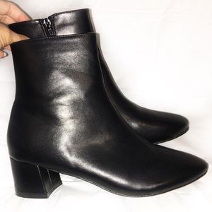 FINAL PRICE DROP Faux Leather Black Booties